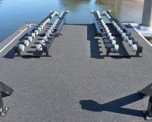 Pontoon boat or jet ski roller system