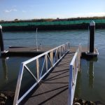 1 of 2 pontoons installed at Newport